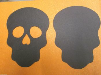 Skull  BLACK Die Cuts x 1 pair Day of the Dead Halloween